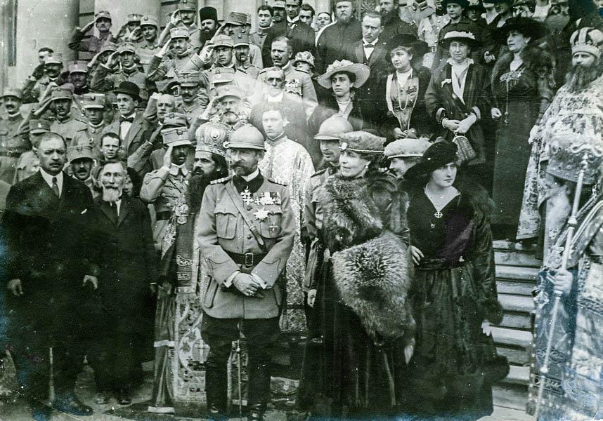 Regele Ferdinand și Regina Maria la serbarea unirii Basarabiei, 30 martie 1918. <br /> Sursă foto: Arhivele Naționale ale României