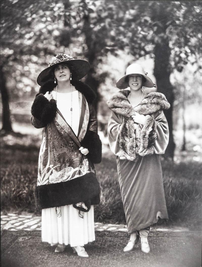 Regina Maria şi regina Elisabeta de Bavaria a Belgiei <br /> Sursă foto: Arhivele Naționale ale României