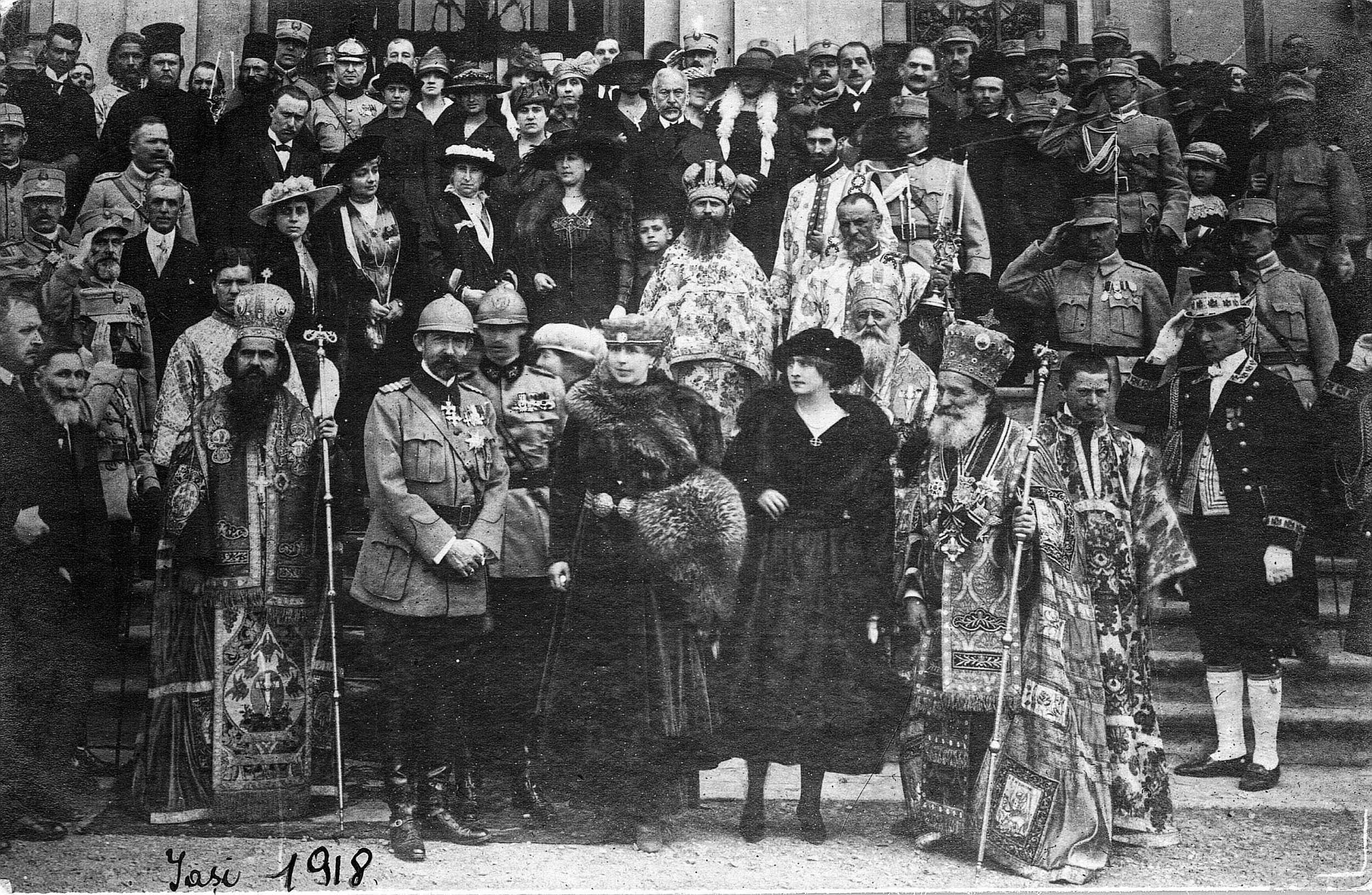 Regele Ferdinand și Regina Maria la serbarea unirii Basarabiei, 30 martie 1918 <br /> Sursă foto: Arhivele Naționale ale României