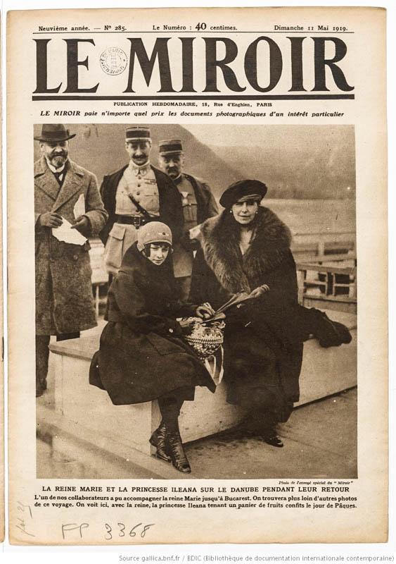 Regina Maria, în presa franceză a vremii <br /> Sursă foto: gallica.bnf.fr / Bibliothèque nationale de France