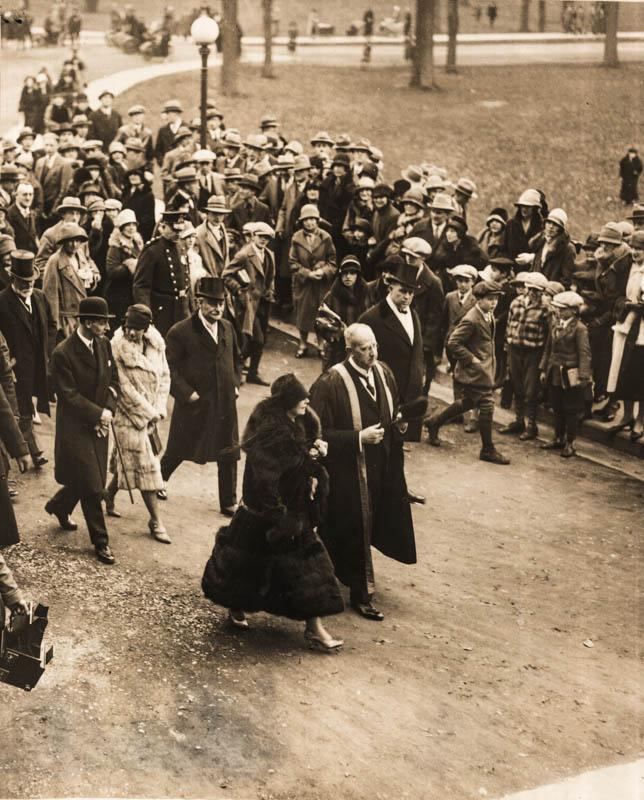 Regina Maria la Universitatea din Montreal <br /> Sursă foto: Arhivele Naționale ale României