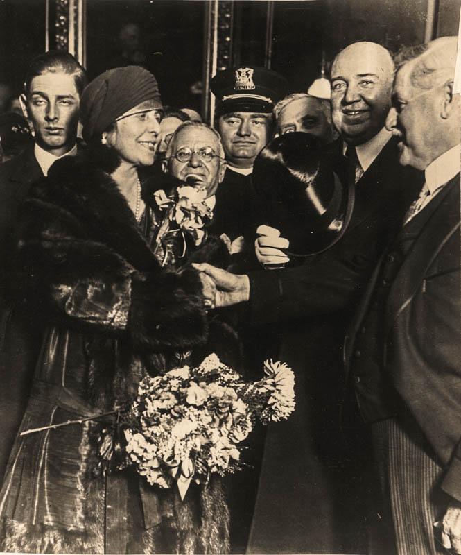 Întâlnirea cu primarul din Chicago William Emmett Dever <br /> Sursă foto: Arhivele Naționale ale României