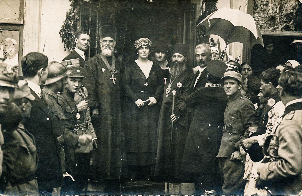 Vizita Reginei Maria la Ospătăria Populară din Chişinău, 1920 <br /> Sursă foto: Arhivele Naționale ale României