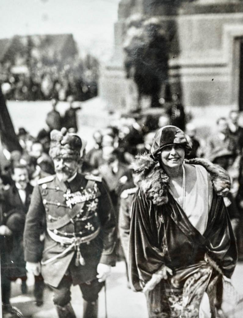 Regina Maria şi regele Ferdinand în vizită în Belgia, la Bruxelles <br /> Sursă foto: Arhivele Naționale ale României